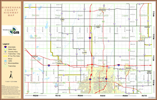 County Highway Map 11x17