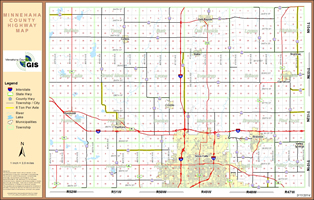 County Highway Map 11x17 with Section Numbers