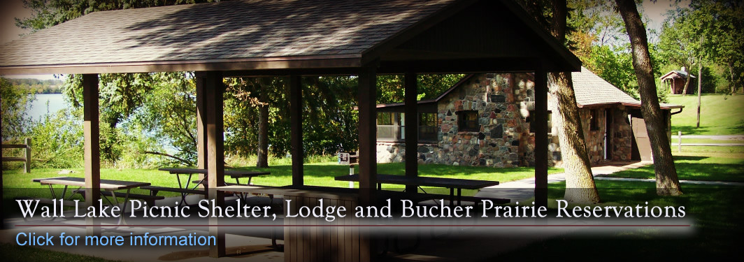 Wall Lake Picnic Shelter and Bucher Prairie Lodge Reservations